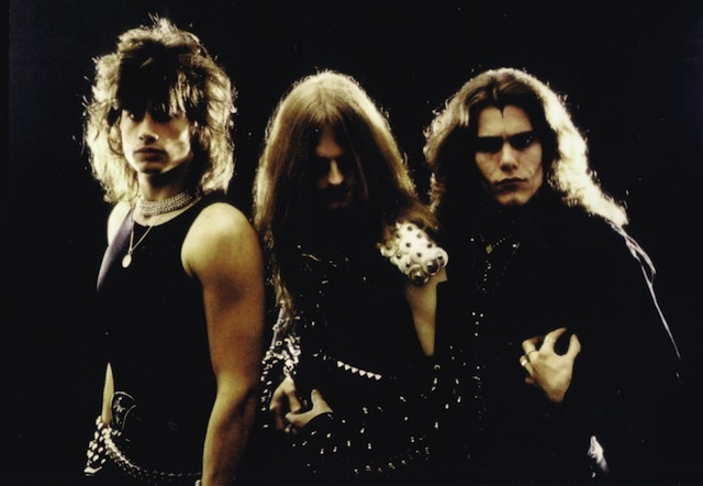Tom (center) with Celtic Frost
